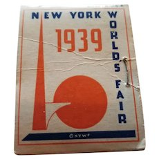 1939 New York World's Fair Advertising Needle Book, Matchbook Size