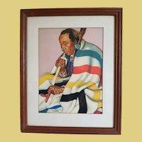 "Native American/Great American Railway Pecunnie Brave ""Arrow Top"" Framed Print"