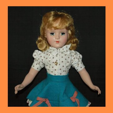 "17"" Hard Plastic Sweet Sue in Flannel Skirt"