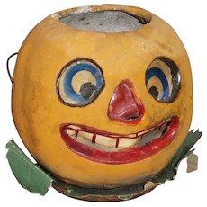 Vintage Halloween German Composition JOL Pumkpin Jack O Lantern Paper Insert