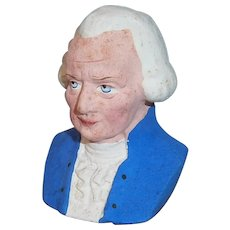 Vintage Patriotic George Washington Bust Composition Candy Container