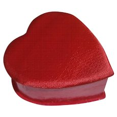 Japan Valentine Day Heart Candy Box Container : Red with Satin Cover Top