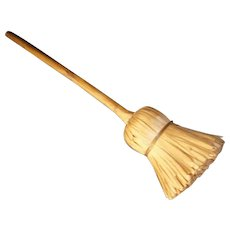 AAFA Primitive Rare Wood Miniature Shaved Broom