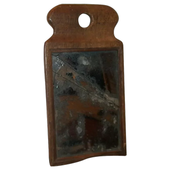 AAFA Primitive Early Wooden Fragment Mirror