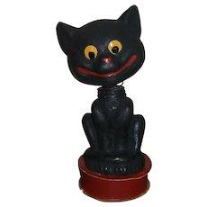 German Halloween Black Cat Nodder Candy Container