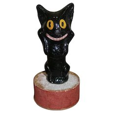 Smiling Black Cat Halloween Candy Container