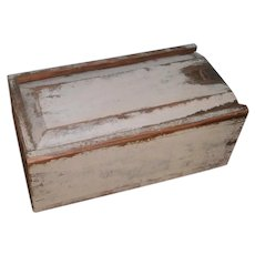 AAFA Primitive Small Candle Box with Slide Top in Putty Paint