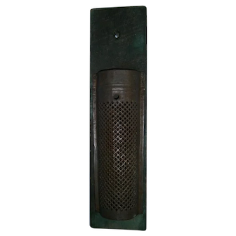 AAFA Primitive Handmade Grater with Blue Green Paint