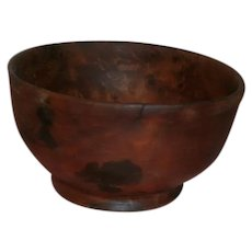 AAFA Primitive Small Footed Wood Burl Bowl