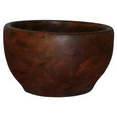 AAFA Primitive Treen Wood Small Burl Bowl