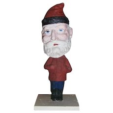 Early German Christmas Composition Santa Claus Nodder Bobble Head