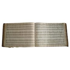 Early Leather Bound Violin Music Song Book 19th Century