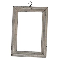 AAFA Primitive Small Looking Glass Mirror in White Paint