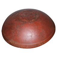 AAFA Wood Primitive Bowl in Red Paint