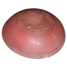 AAFA Primitive Wood Bowl in Dry Red Paint