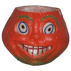 Vintage Halloween Pulp JOL Jack-O-Lantern with Paper Insert