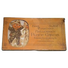 Antique Halloween Dennison Scarecrow Place Cards in Box