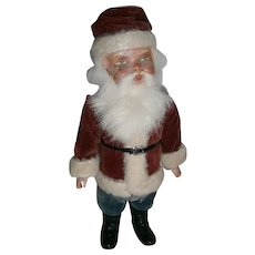 Early German Santa Claus Wind-Up Woodcutter with Key