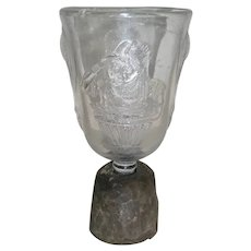 AAFA Early Glass and Wood Make Do Goblet