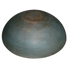 AAFA Primitive Wood Bowl in Robin Egg Blue Paint