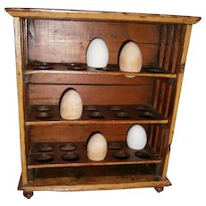 AAFA Primitive Wood French Egg Rack in Mustard Paint