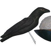 Large Primitive Pulp Black Crow with Glass Eyes AAFA