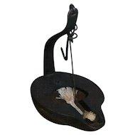 AAFA Primitive Iron Whale Oil Betty Lamp with Wick