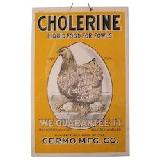 AAFA Double Sided Cardboard Advertising Cholerine Chicken Poultry Food Sign