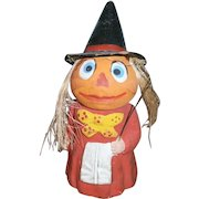 German Halloween Composition JOL Head Witch Candy Container