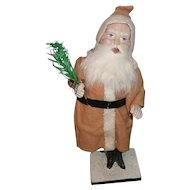 German Christmas Santa with Long Red Suit and a Nodder Body