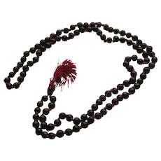 Vintage Garnet Pigeon Blood Red Necklace