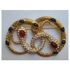 Vintage Kenneth Jay. Lane Snakes Medusa 1980's For AVON Jewelry