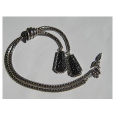 Vintage Egyptian Revival Pharaoh Figural Necklace Whiting Davis