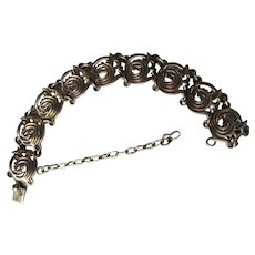 Vintage Taxco Mexico 980 Modernist Sterling Silver Exceptional Bracelet