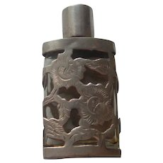 Vintage Mexico Taxco  Sterling Silver Floral Perfume  1950's