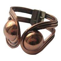 Vintage RAMI Copper Clamper 1950's Bracelet
