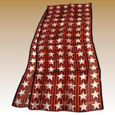 "50"" Patriotic Stars & Stripes Pure Silk Scarf by Echo"