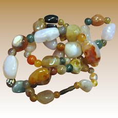 """Mixed Agate """"Gypsy"""" Necklace"""
