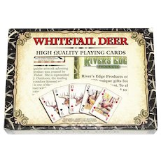 Whitetail Deer Playing Cards - 2 Decks Nearly New