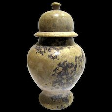Nice Cut Stone Urn, for Display or Pet Memorial Ashes