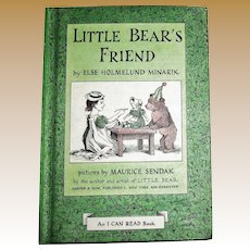 Little Bear's Friend by Else Holmelund Minarik, 1960 HC, An I Can Read Book