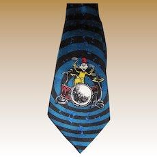 Dr. Seuss Cat in the Hat Drummer Pure Silk Tie