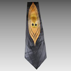 """Cool """"Flame Face"""" Pure Silk Tie by Franco Di Napoli"""