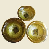 Super Set of 3 1930's Federal Amber Mixing Bowls