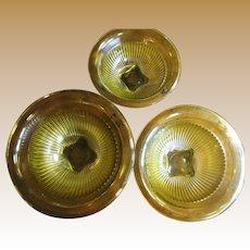 Super Set of 3 1930's Federal Amber Mixing Bowls