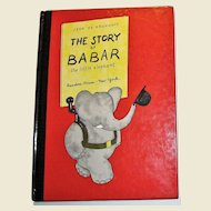 The Story of Babar the Little Elephant by Jean De Brunhoff, HC 1961, Childrens book 4-8 year olds, Nearly New
