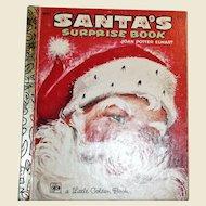 Santa's Surprise Book by Joan Potter Elwart, 1979 Ninth Printing, Art by F. L. Winship HC, A Little Golden Book