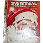 Santa's Surprise Book by Joan Potter Elwart, 1979 Ninth Printing, Art by F. L. Winship HC, A Little Golden Book
