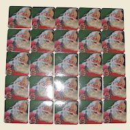 25 Coca Cola Christmas Drink Coaster, 1990's  Santa Claus, Mint Like New