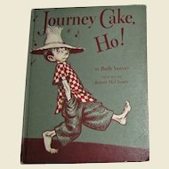 "Vintage Children's Book ""Journey Cake Ho!"" 1953 Viking, Farm Animals"